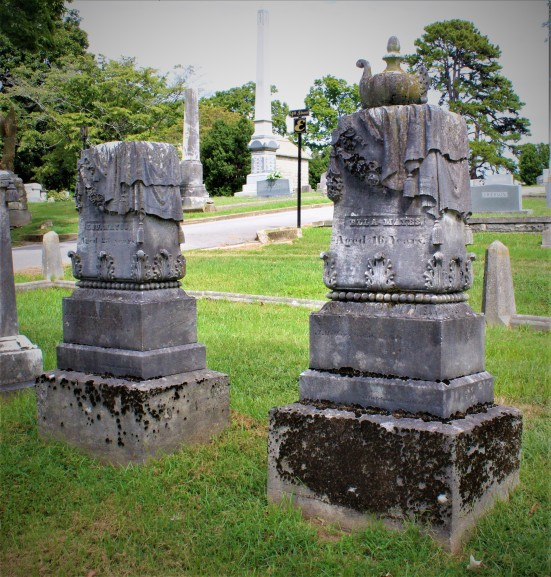 The graves of Lou & Ella Mayes