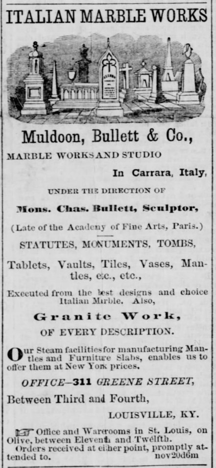 1867 ad for Muldoon, Bullett, & Co.