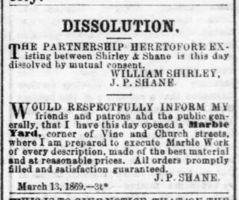 Shirley & Shane dissolved